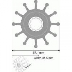 Johnson Impeller 09-1027B Ø57,1mm