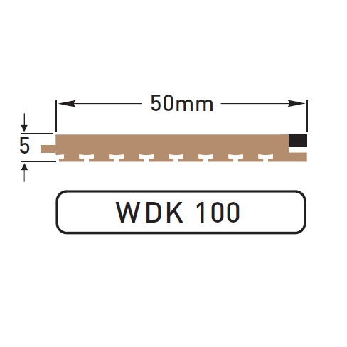 DEK-KING 50mm Caulked - 10 mtr.