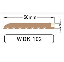 DEK-KING - Cream Caulked margin - 10 mtr