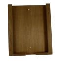 iPad holder teak, 20.4x2.5x24.4 cm
